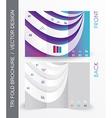 brochure design with 3d elements vector image vector image