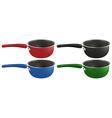 Four pots vector image vector image
