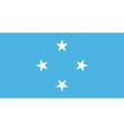 micronesian flag vector image vector image