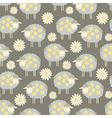 ornate sheep seamless vector image