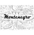 Montenegro coloring book vector image