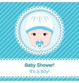 Baby boy shower vector image
