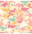 Colorful birds silhouettes seamless pattern vector image