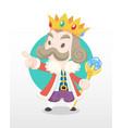 cute cartoon old king vector image