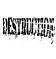 destruction vector image