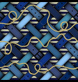 fashion pattern with a belts vector image