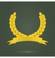 Golden Laurel Wreath vector image