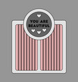 icon in flat design electronic floor scales vector image