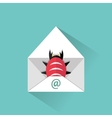 Infected email icon vector image