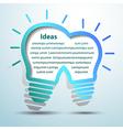 Lightbulb ideas4 vector image
