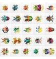 Set of Christmas Snowflake Banner Templates vector image