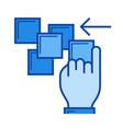 shove line icon vector image