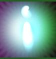 single light blue neon letter i of vector image
