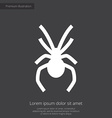 spider premium icon white on dark background vector image