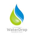water drop pure symbol icon business design vector image