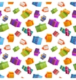 Bright colorful gift boxes on white background vector image