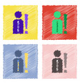 collection of flat shading style clinical icons vector image