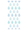 Abstract textile blue rain drops stripes vertical vector image