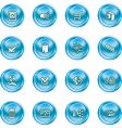 computer and web icons vector image vector image