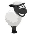 Cartoon sheep posing vector image