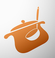 pan with a ladle vector image vector image