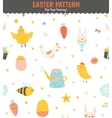 Easter greeting seamless pattern vector image