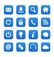 Blue web buttons vector image