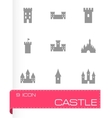 castle icon set vector image