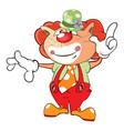 cute cat clown cartoon vector image
