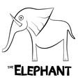 Elephant Outline Isolated on White Background vector image