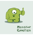 Monster emoticon with thumb up vector image