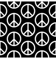 Peace symbol seamless pattern vector image