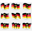 Set of Germany flags in the air vector image