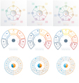 Set 9 templates Infographic 5 6 7 positions vector image