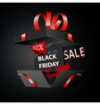 Black friday sale advertising special offer vector image