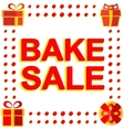Big winter sale poster with BAKE SALE text vector image