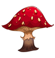 A giant red mushroom vector image