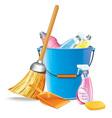 Bucket With Detergents vector image