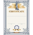 Certificate template with Femida vector image