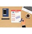 Businessman accepted CV vector image