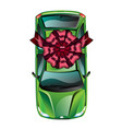 car wrapped gift ribbon vector image