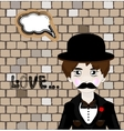 cartoon mafia man with vector image