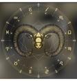 Golden Ram zodiac Aries sign vector image