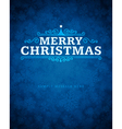 Merry Christmas message and ornament vector image