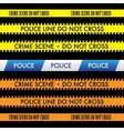 Police Line Do Not Cross Tape Design vector image