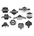 Retro labels and banners set vector image