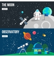 Space Universe Banner Set vector image