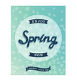 Spring retro poster enjoy now vector image
