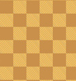 yellow brown checked fabric seamless pattern vector image