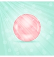 Realistic Pink Pearl vector image vector image